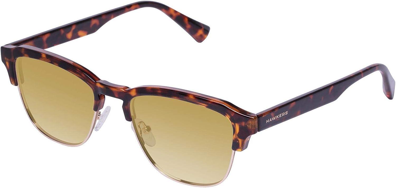 HAWKERS · CLASSIC · Brown · Gold · Gafas de sol para hombre y mujer: Amazon.es: Ropa y accesorios