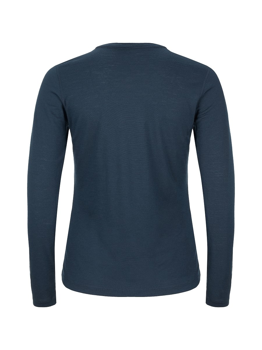 super.natural D/ünnes Damen Langarm-Shirt W BASE LS 140 Mit Merinowolle