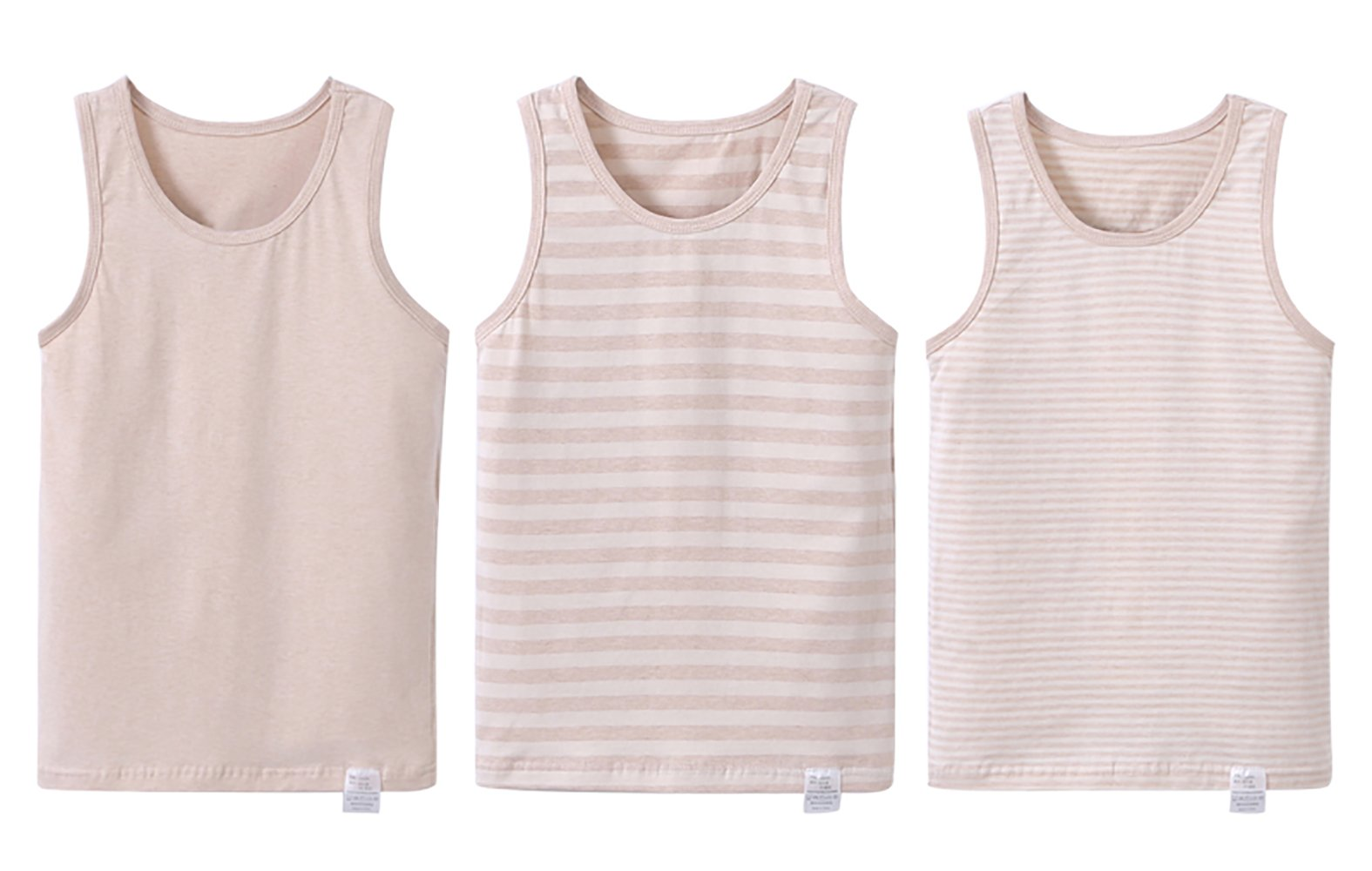 Zegoo Girls' Fine Jersey Tank Top Brown Printing (3/Pack)