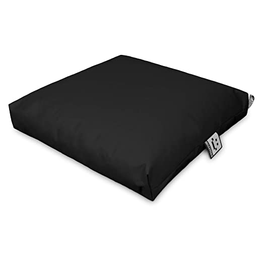 Happers Cojín Multiusos Suelo & Respaldo Palets Exterior Negro 60x60cm