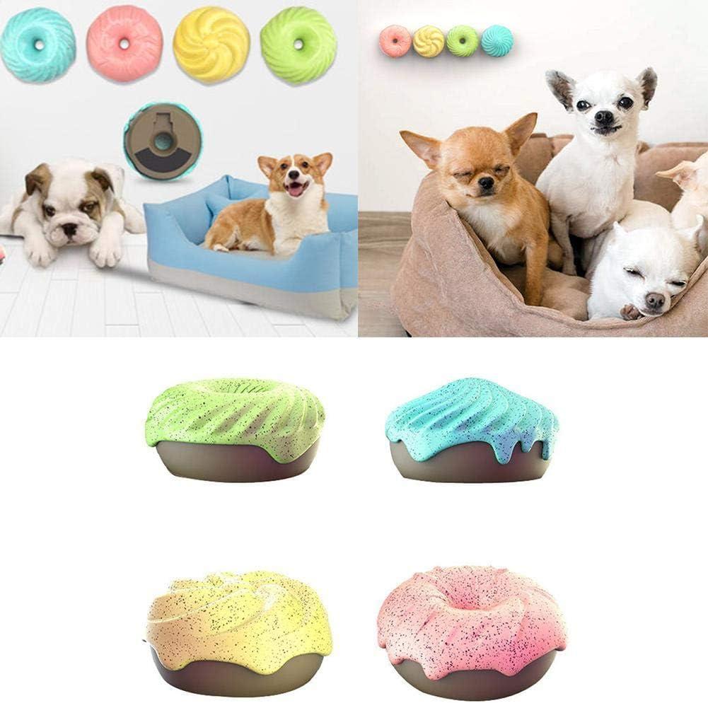 4 Unids/Set Eliminador de olores Desodorante para Mascotas Donut Aceite Esencial Natural Aromaterapia Ambientador sólido para Perros Gatos Casa Perrera Baño Oficina Aseo Coche
