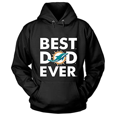 new styles db115 f7587 Amazon.com: Miami Dolphins T Shirt, Best Dad Ever T Shirt ...