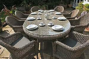 Bridgman 270cm Oval Table with 8 Armchairs