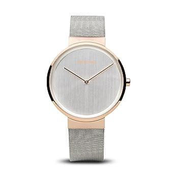 BERING Reloj Analogico para Mujer de Cuarzo con Correa en Acero Inoxidable 14539-060: Amazon.es: Relojes