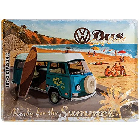 Nostalgic-Art Merchandising 14264 Volkswagen Bulli prête pour l'été Aimant 8 x 6 CM Nostalgic Art