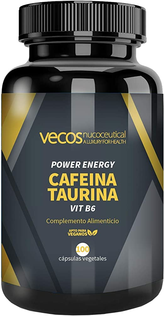 Power Energy de Vecos para la mejora del rendimiento físico – Cafeína, taurina y vitamina B6 para contribuir al aumento de volumen muscular y activar ...