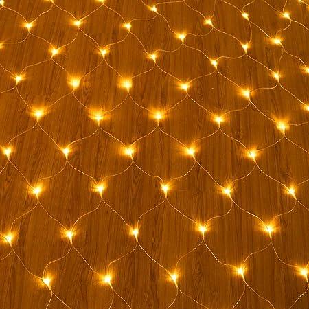 FAPROL Red De Luz De Hadas para Navidad, Luces De Jardín Exterior con 8 Efectos De Iluminación Interiores Decoración: Amazon.es: Deportes y aire libre