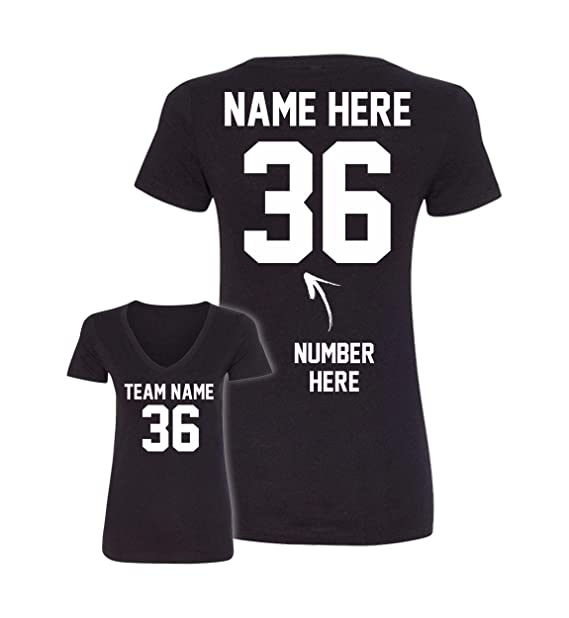 b6120cac Custom V Neck T Shirts - Design Your Own Jerseys for Women - Personalized  Team Uniforms