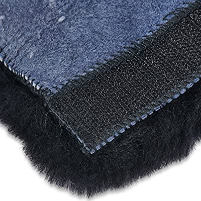 Andalus Authentic Sheepskin SeatBelt Cover, 2 Pack, Seat Belt Covers for Adults, Comfortable Driving, Genuine Natural Merino Wool (Black): Automotive
