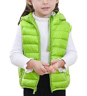 ZhuiKunA Daunen Weste Kinder,Steppweste Stehkragen Wasserdicht /Ärmellose Jacke