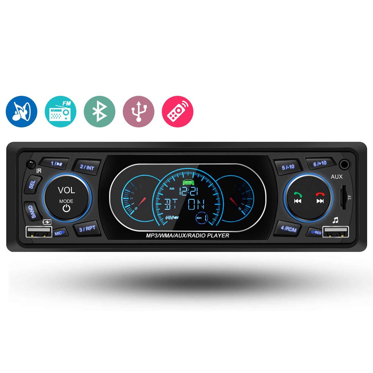 Lodstun Bluetooth Autoradio Singel Din unterstü tzt Freisprecheinrichtung FM USB SD AUX