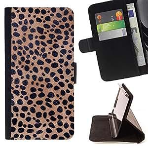 BullDog Case - FOR/HTC One M9 / - / Texture Cheetah Leopard /- Monedero de cuero de la PU Llevar cubierta de la caja con el ID Credit Card Slots Flip funda de cuer