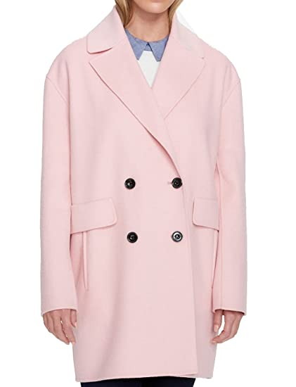 discount price moderate price factory outlet Tommy Hilfiger Women Plus Double Breast Peacoat Wool Pink ...