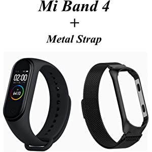 Amazon.com: NMSLA Xiaomi Mi Band 4 Fitness Tracker 50m ...