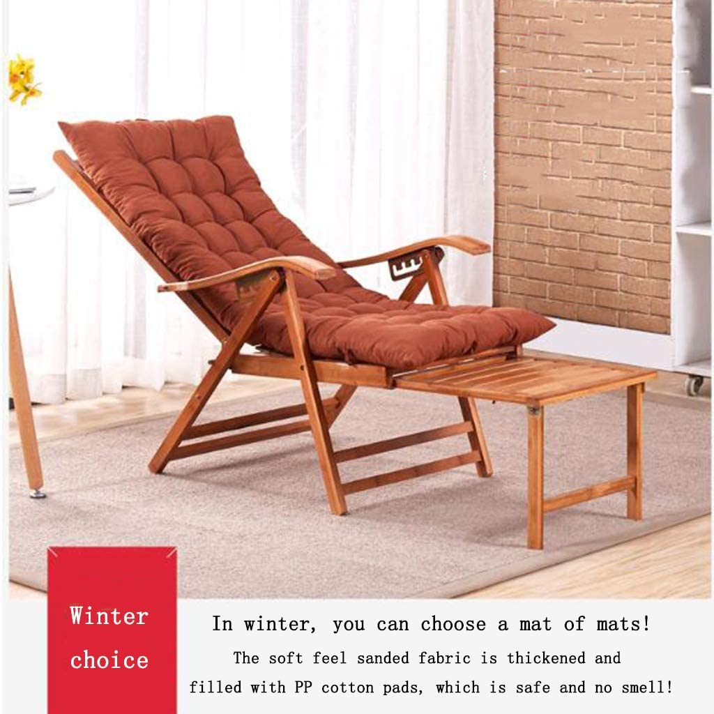 N / A Folding Reclining ChairFolding Chair, Lunch Break Lazy Chair, Lounge Chair, Zero Gravity Solid Wood Bed with Cotton CushionRocking chair(Color:style3) Style1