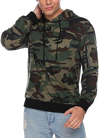 MOUTEN Mens Plus Size Camo Faux Fur Lined Hoodies Hooded Sweatshirt Coat Jacket