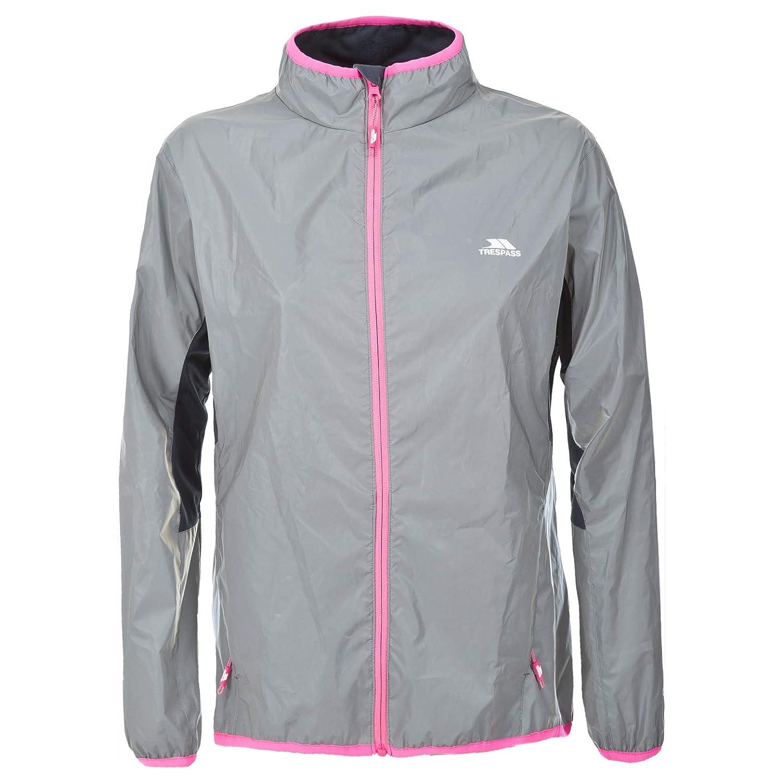 36b4ae28422 Trespass Women's Lumi Active Windproof and Waterproof Cycling and Running  Outdoor Luminous Jacket