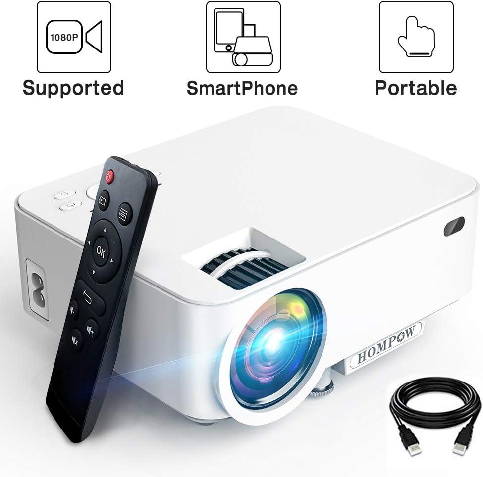 Mini Proyector – 2800Lux Hompow Smartphone Portátil Video ...