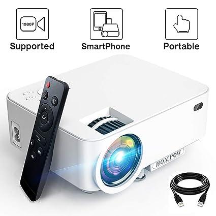 Amazon.com: Mini proyector - 2400Lux Hompow proyector de ...