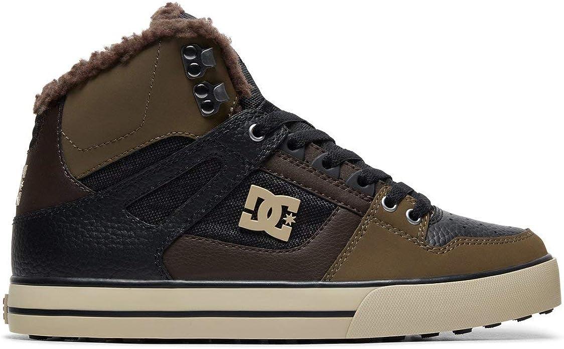 DC Shoes Pure High WC Sneakers High Tops Herren Größe 38 bis 52 Olivgrün/Schwarz