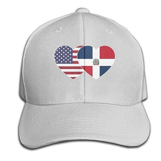 CSYSMZ DOMINICAN REPUBLIC USA Twin Flag Baseball Cap Unisex Fishing Caps  Peaked Hats Ash f76c24571d8