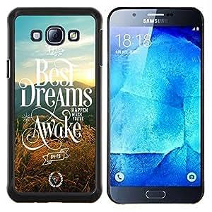 - Best Dreams Awake - - Cubierta del caso de impacto con el patr??n Art Designs FOR Samsung Galaxy A8 A8000 Queen Pattern