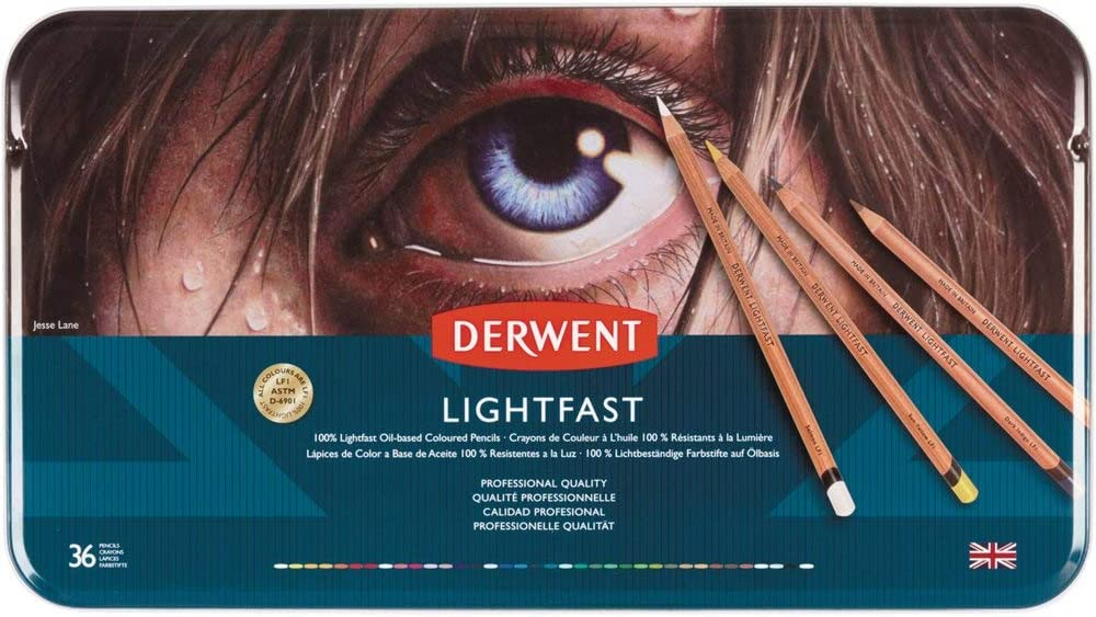 Derwent Lightfast Colored Pencils, for Artist, Drawing, Professional, 36 Pack (2302721)