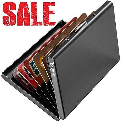 Enyoir Delgado Billetera de Aluminio con RFID Bloqueo para Tarjetas de  Crédito Cartera Tarjetero de Metal 93e0894a52a