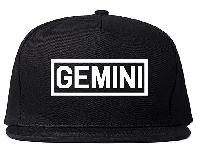 39c262543efd3 Gemini Horoscope Sign Mens Snapback Hat Cap Black at Amazon Men s ...