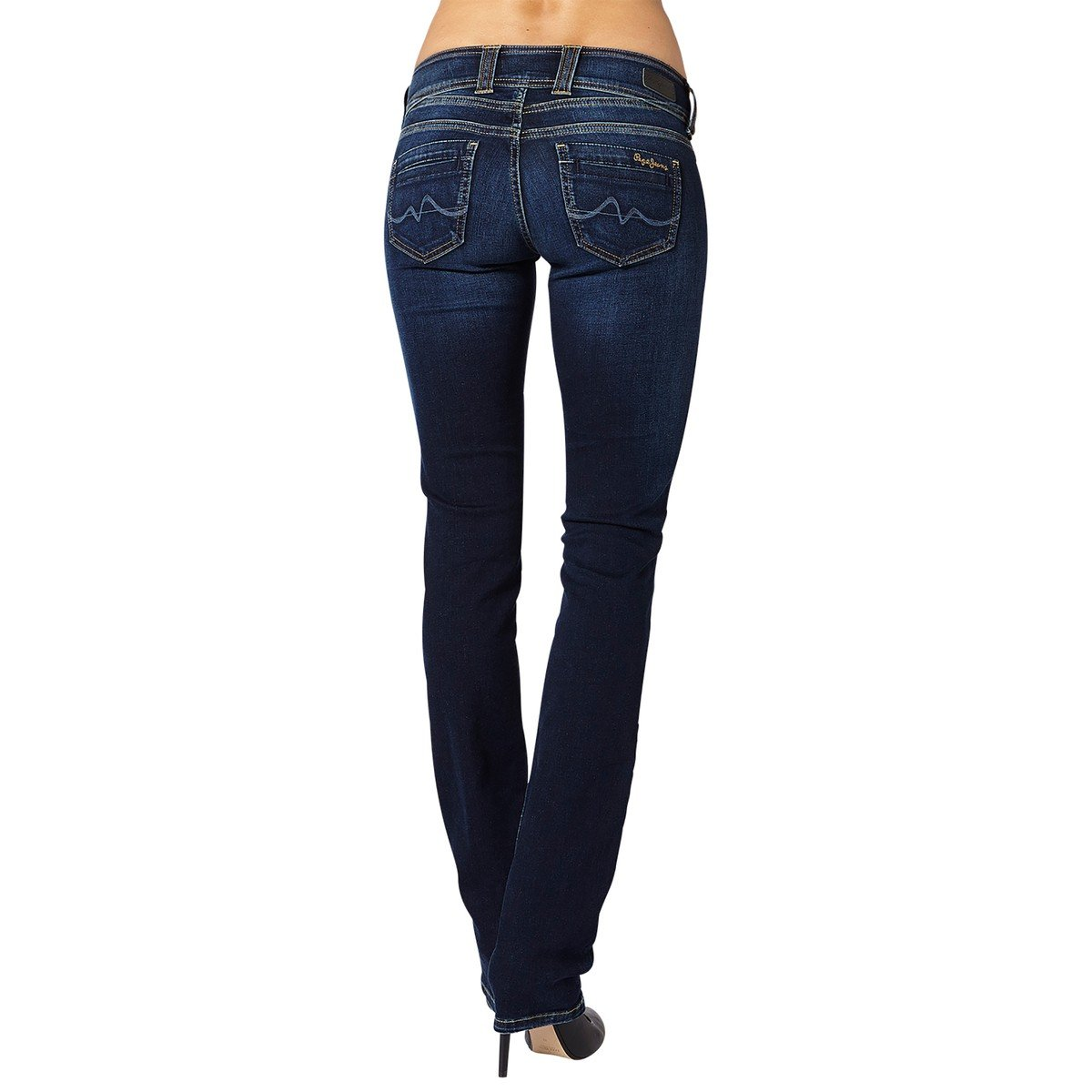 Pepe Jeans Womens Gen Straight Jeans Blue Size 31 Length 32 by Pepe Jeans (Image #2)