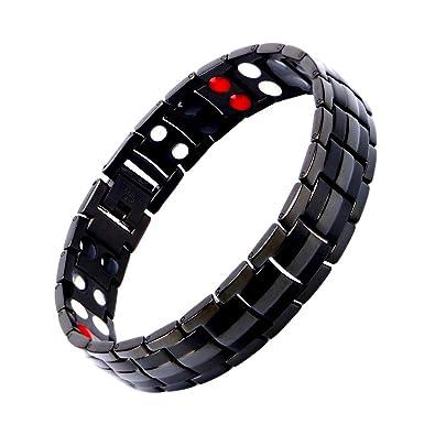 attraktiver Stil verkauf uk 100% echt Magnetarmband Herren, Titan Therapie Armbänder für Männer Gesunde Sleek  Cuff Armband für Erleichterung Schmerz mit Link Removal Tool