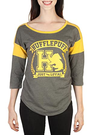 58ba458a8 Amazon.com: HARRY POTTER Hufflepuff Raglan T-Shirt: Clothing