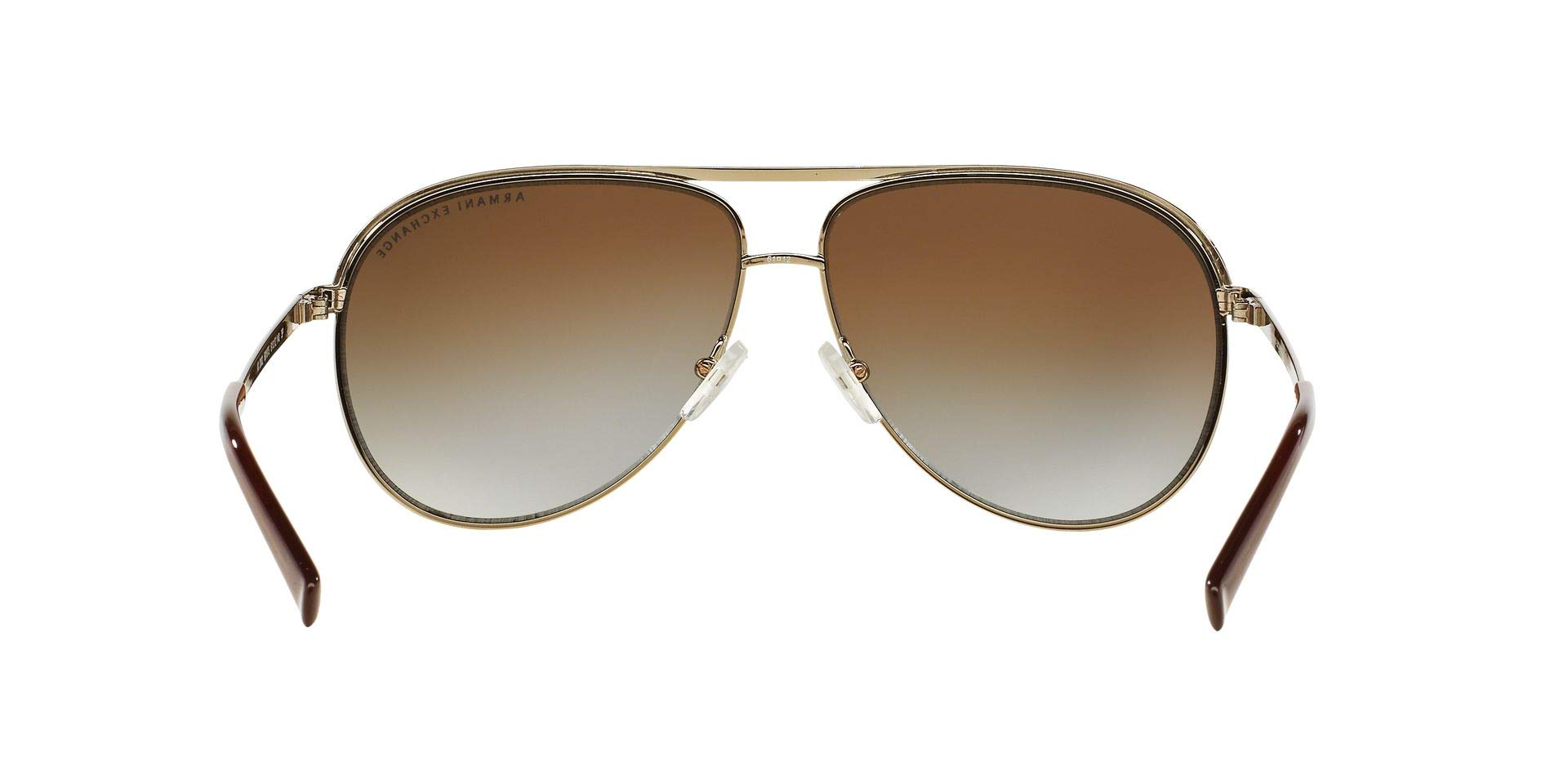 Armani Exchange Metal Unisex Polarized Aviator Sunglasses, Light Gold/Dark Brown, 61 mm by A|X Armani Exchange (Image #8)