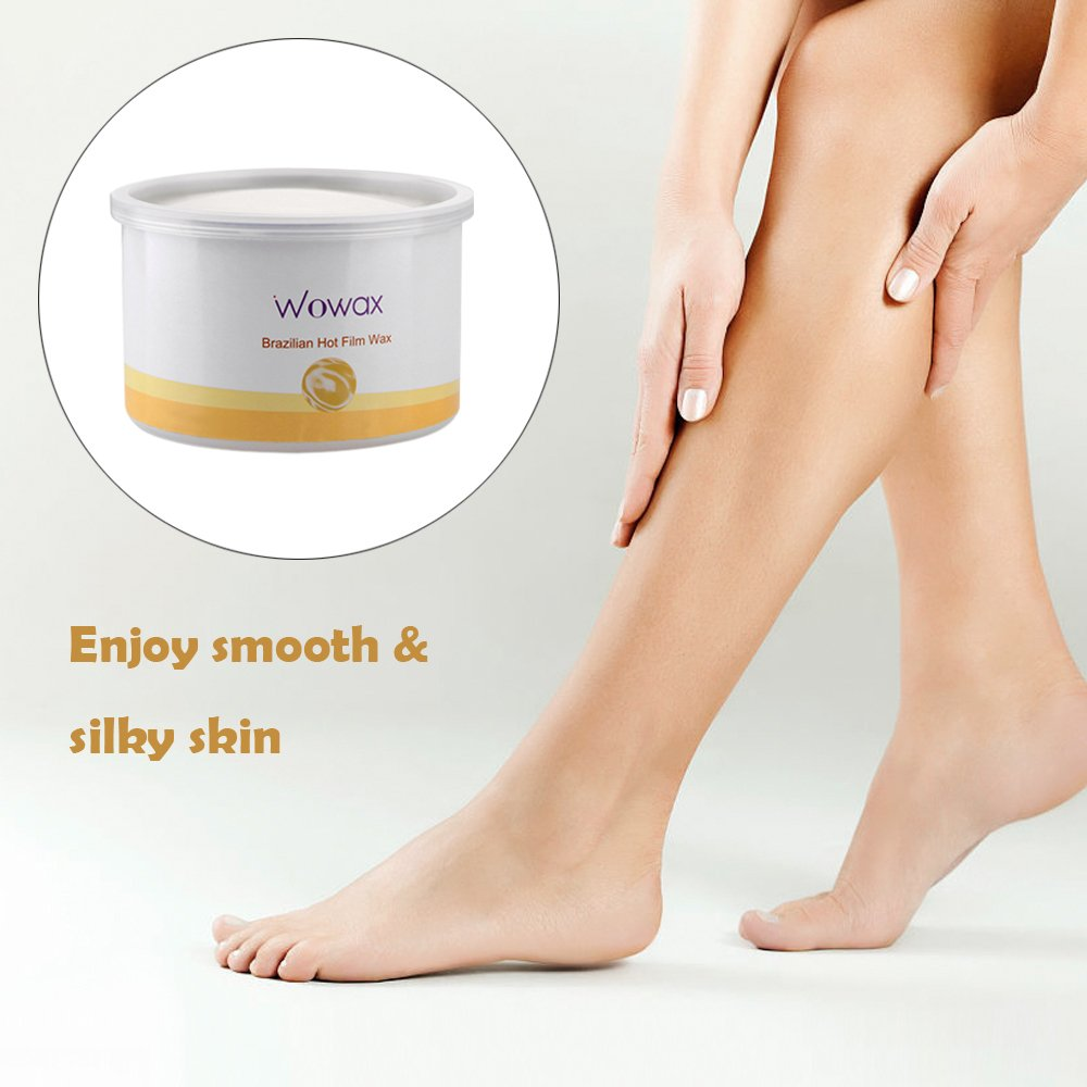 WOWAX Brazilian Wax, Stripless All Purpose Hard Wax Hot Wax for Hair Removal, 14 ounce