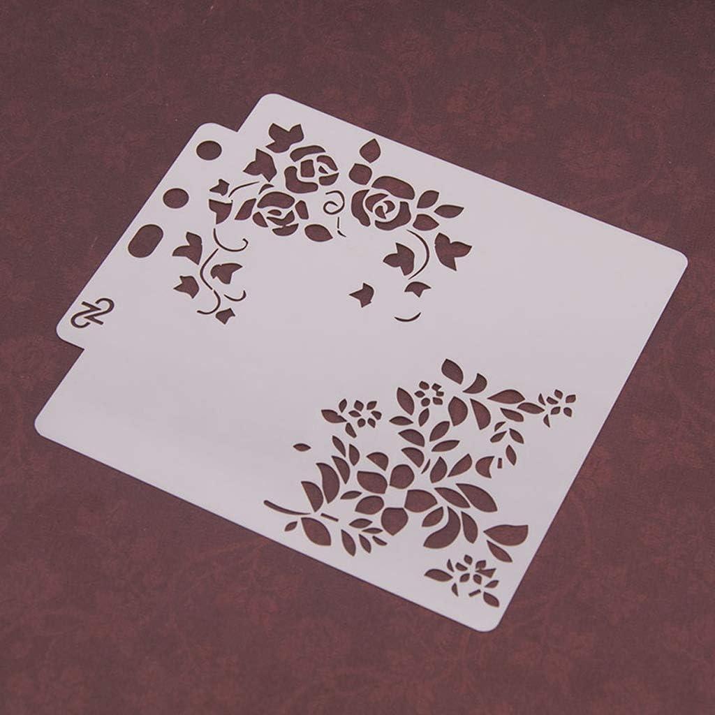 dise/ño de flores de p/ájaro para pintar /álbumes de recortes pintura de aer/ógrafo tarjetas manualidades Yiwann Plantillas de bricolaje /álbumes de recortes regalo reutilizable 82