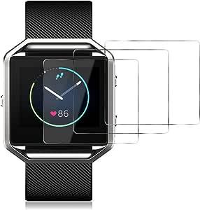 Vidrio Templado JETech Protector de Pantalla para Fitbit Blaze 3 Unidades