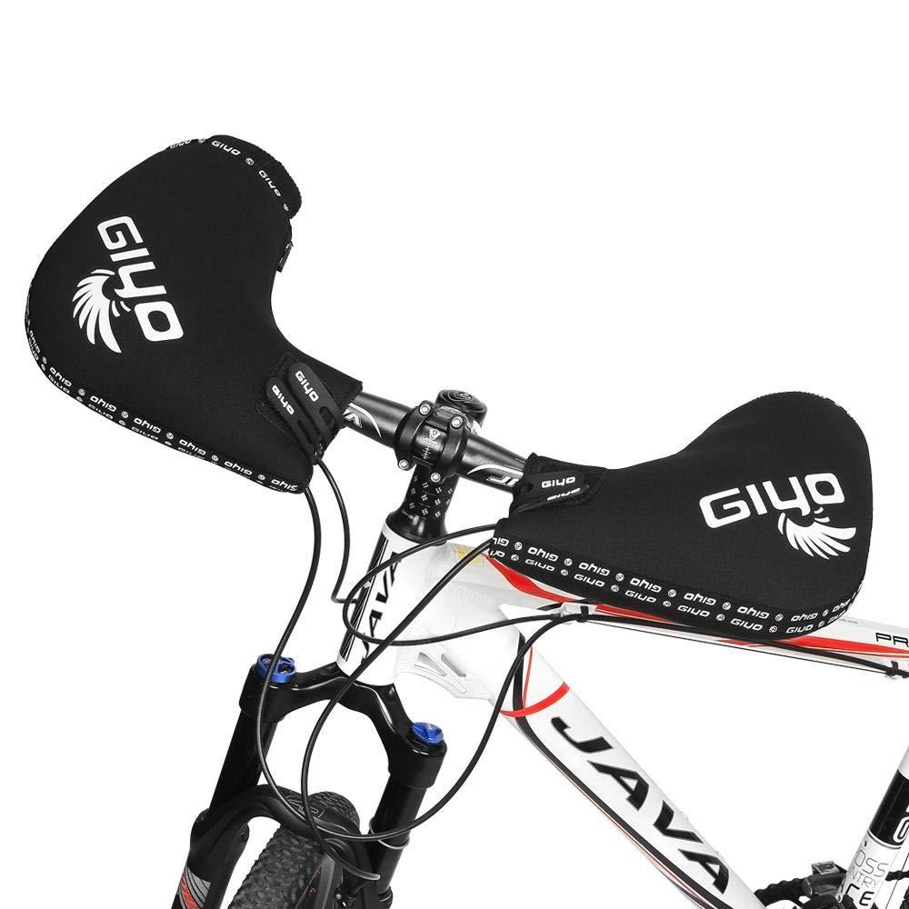 DokFin Manchons De Guidon Imperm/éable Chaud Gant Moto Chauffant Hiver pour VTT VTC V/élo Route Moto Scooter Noir