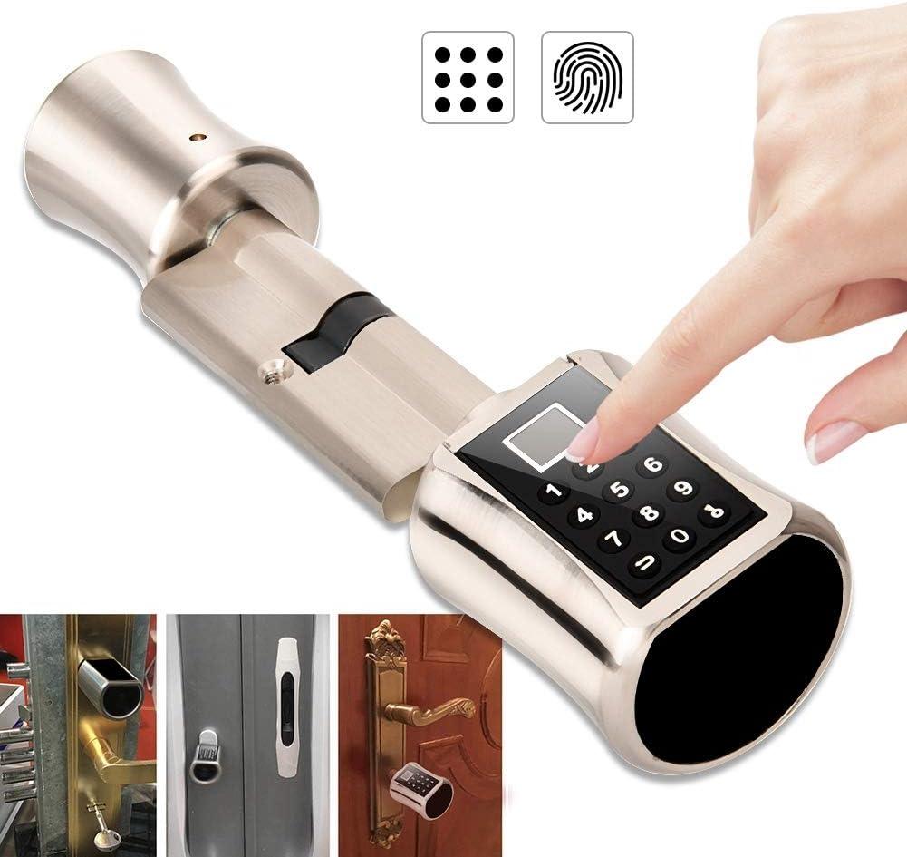 intelligentes passwortcodiertes Sicherheitssystem f/ür das Home Office Rosvola Fingerabdruck T/ürschloss