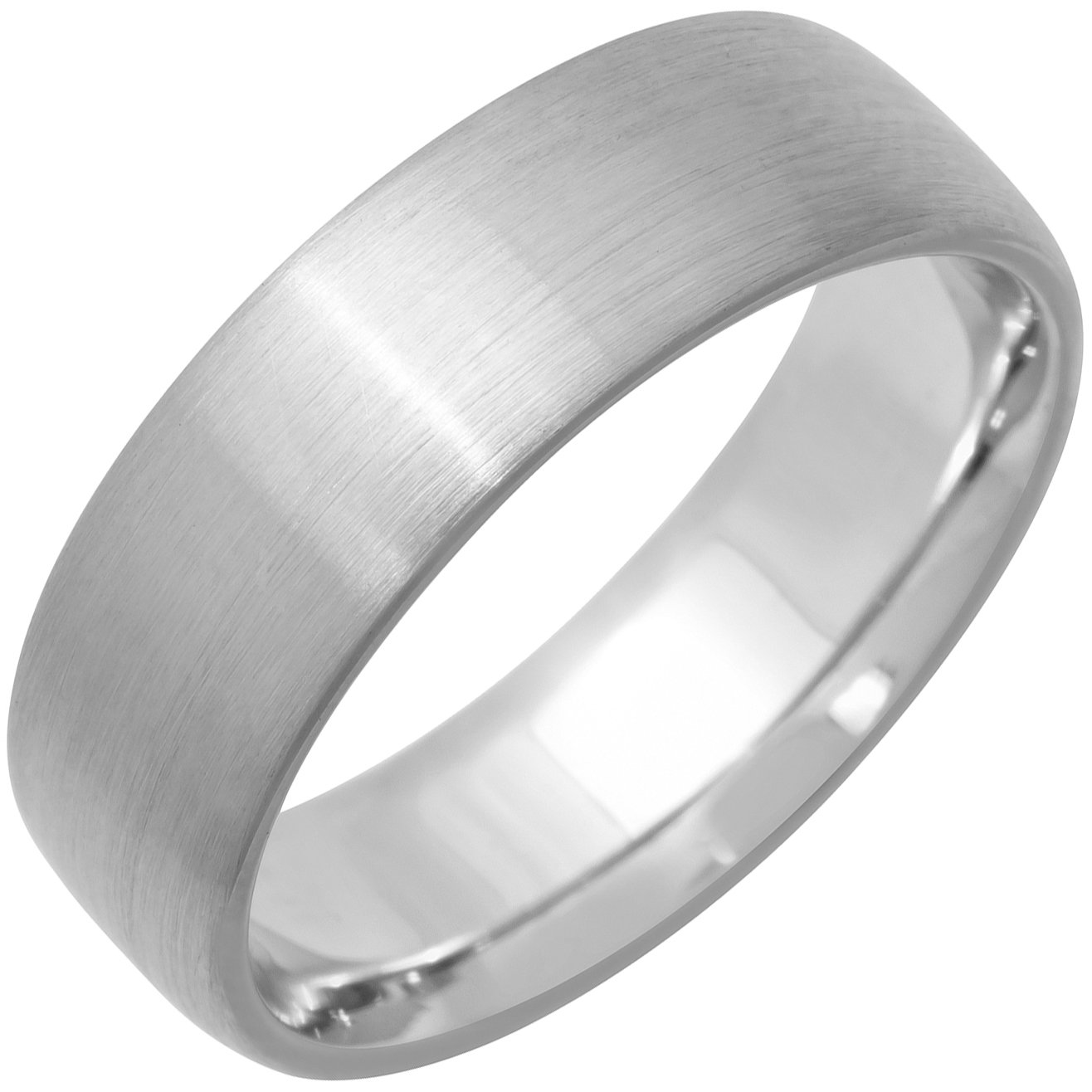 18K White Gold Traditional Classic Men's Comfort Fit Wedding Band (6mm) Size-13c1