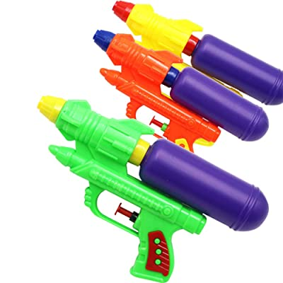 NA Water Gun for Kids Toys Super Guns Soaker Pump for Kids Adults, Summer Water Blaster Toy for Swimming Pool Party Outdoor Beach Water Fighting(Pack of 3): Toys & Games