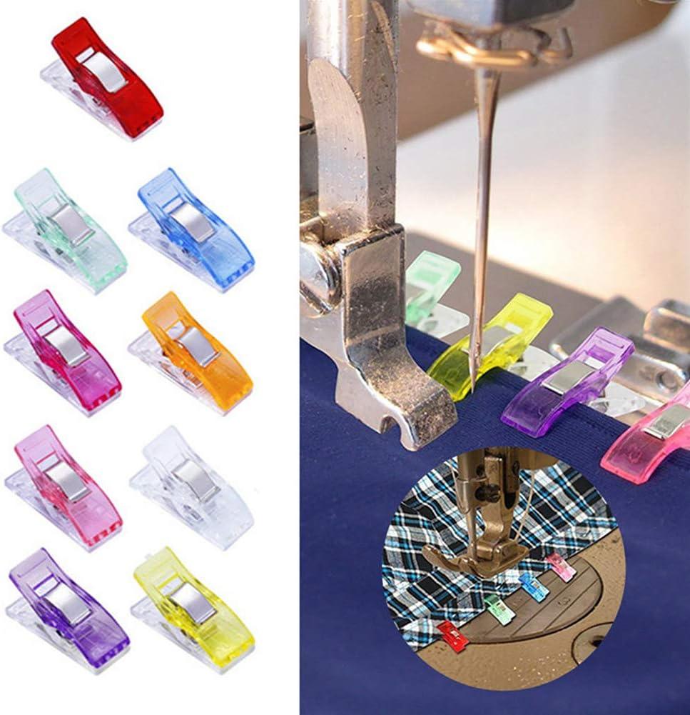 manualidades y tejido 100 clips de costura para costura acolchado caja de esta/ño varios colores ganchillo