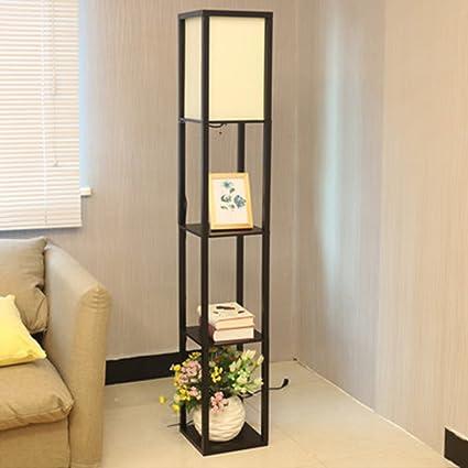 ZHANGRONG-Lámparas de pie- Lámpara de pie de madera creativa ...
