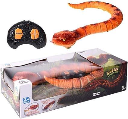 Giocattoli a forma di serpente serpente a sonagli telecomandato Giocattoli per serpenti elettrici per bambini realistici 44 20 11 cm