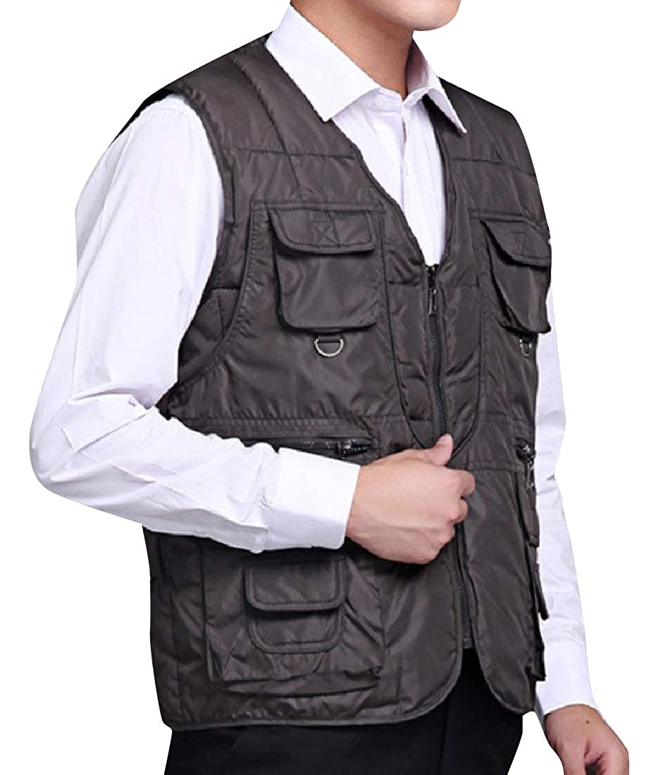 Coolred-Men Stay Warm Oversized Multi-Pockets Tactical Puffer Vest