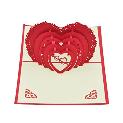 Amazon agywell love 3d popup cards perfect envelope handmade agywell love 3d popup cards perfect envelope handmade greeting cards for valentines day and anniversaries thanksgiving m4hsunfo