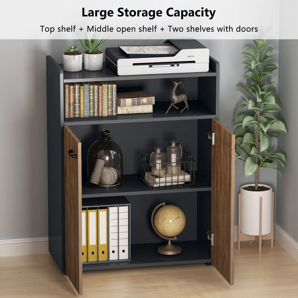 Tribesigns Office Storage Cabinet, Industrial Large Tall File Cabinet Printer Stand with Storage Shelves and Doors for Home Office by Tribesigns (Image #5)