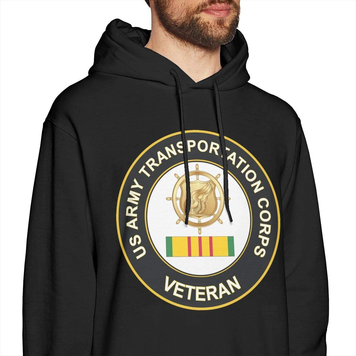 HONGHUOmao US Army Transportation Corps Vietnam Veteran Mens Fashion Pullover Casual Hoodie Hooded Sweatshirt with Pocket