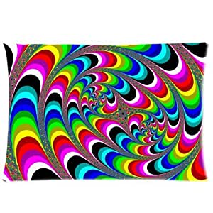 Hot trippy Psychedelic Bed Pillow Cases 20* 30inches (Twin Sides)