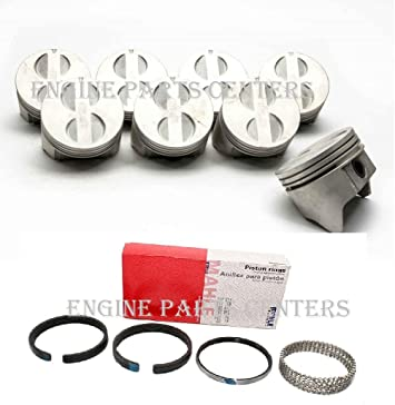 Chevy 5.0//5.0L//305 Sealed Power Cast Flat Top Pistons+MOLY Rings Set//Kit STD