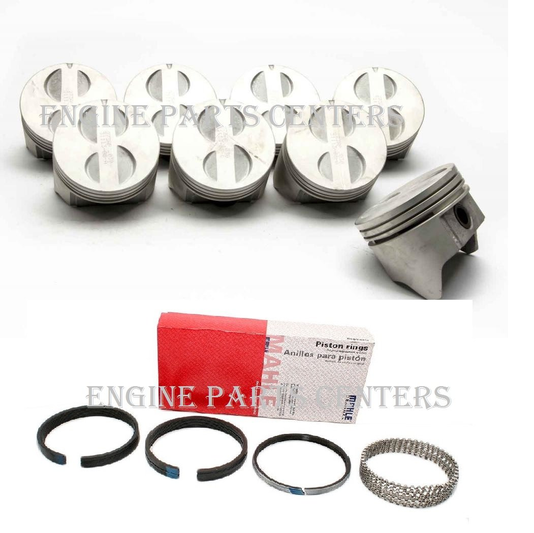 1982-86 Chevy 5.0 5.0L 305 Sealed Power Cast Flat Top Pistons+Rings Combo Set (3.766' Bore) Sealed Power/Perfect Circle